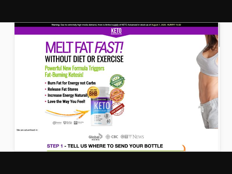 KETO Advanced - CC Submit - CA - Well-being - Responsive