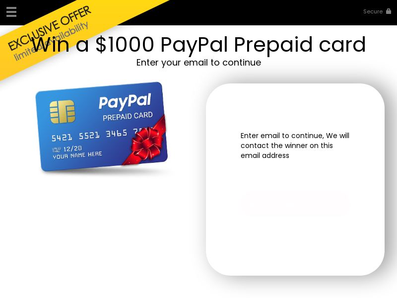 Win a paypal gift card - US