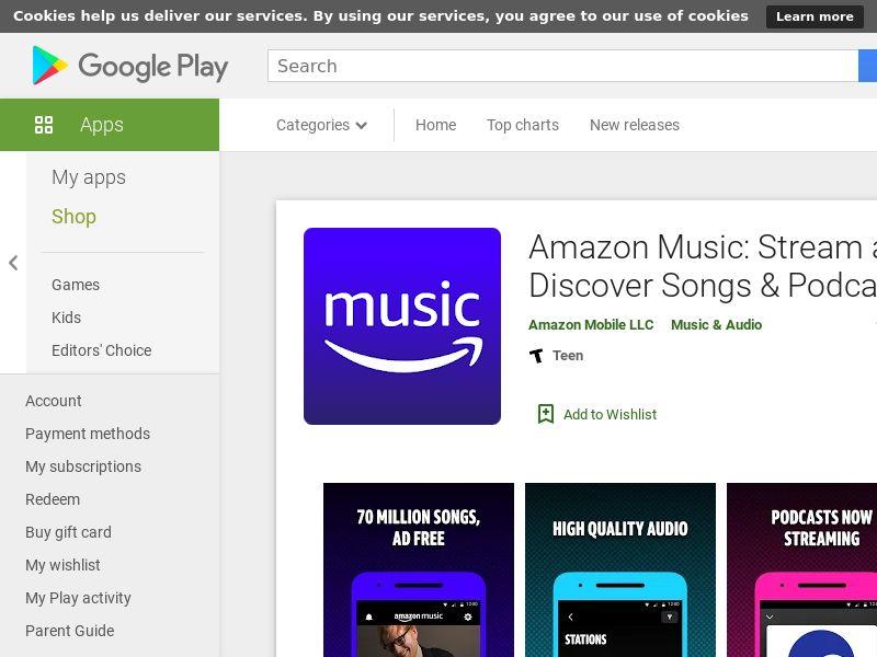 Amazon Music AND US APPNAME