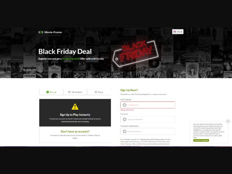 Streaming service Black Friday [WW] - CC Submit
