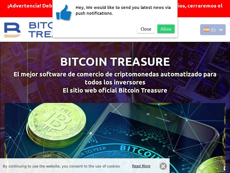 Bitcoin Treasure Spanish 2828