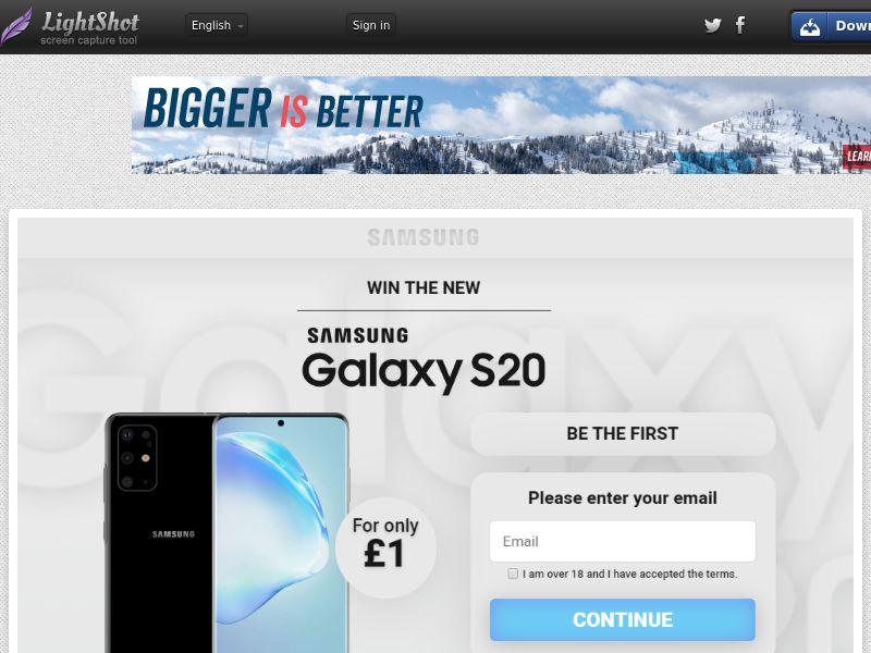 GetRealDeal Samsung Galaxy S20 White (Sweepstake) (CC Trial) - United Kingdom [UK]