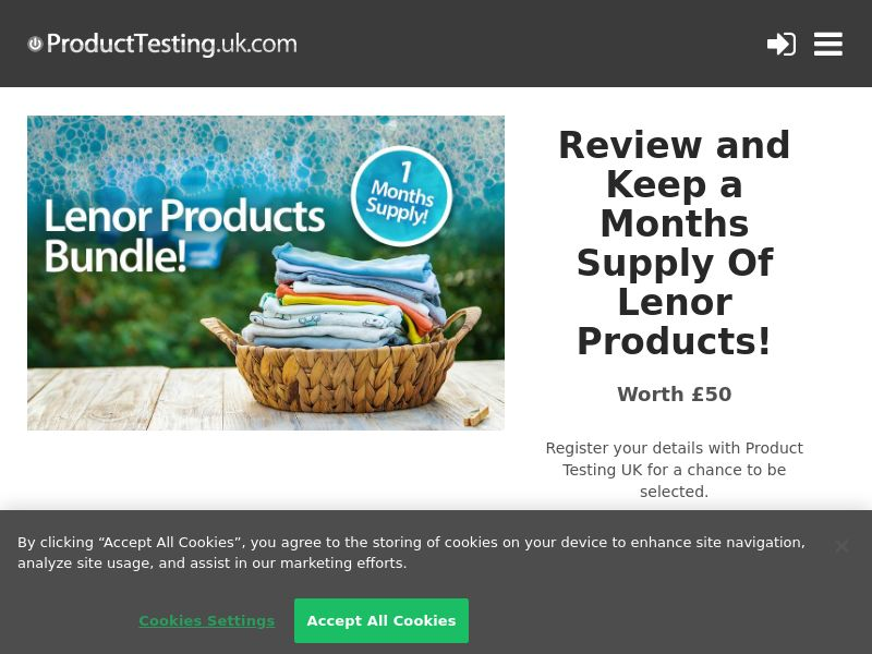 Product Testing - Review and Keep a Months Supply Of Lenor Products! [UK]