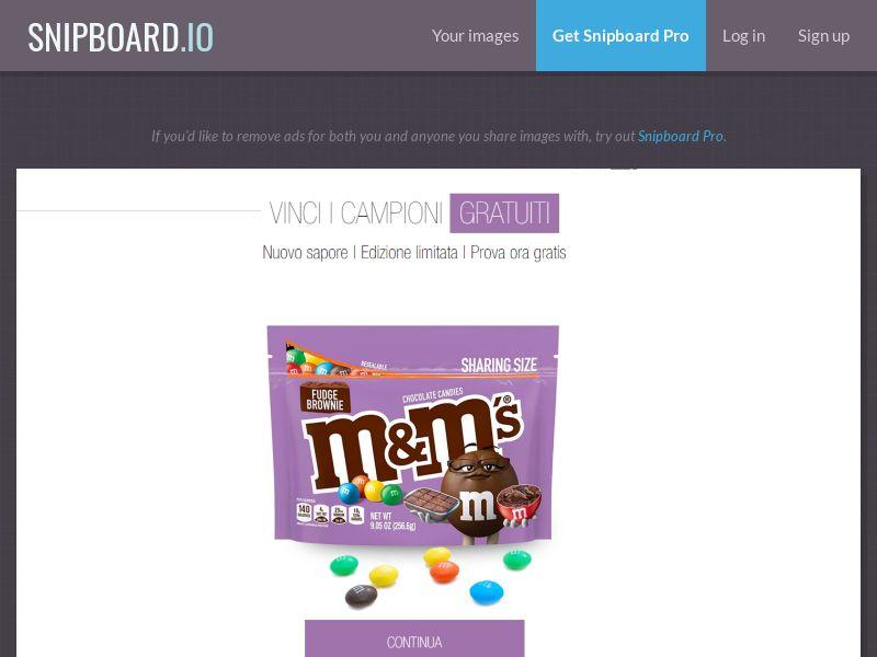 38460 - IT - LeadsWinner - M&M Brownie - SOI