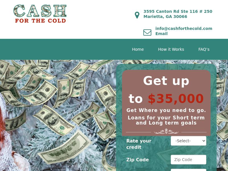 Cash for the Cold - Loan - US - Non-Incent
