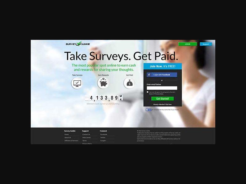 SurveyJunkie - US/CA/AU (SOI)