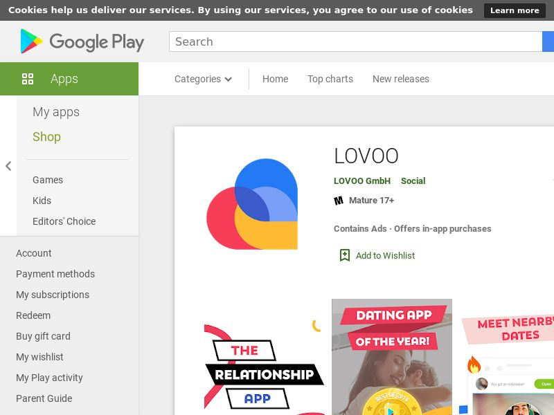 Lovoo - Android - INCENT - ES, IT, AT, CH, FR, DE