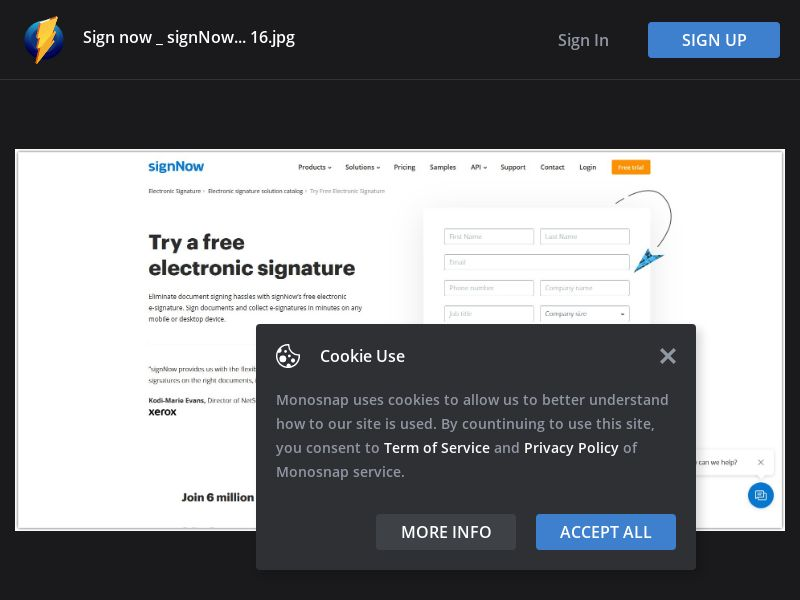 United States (US) - SignNow - Sign Up Form (Responsive)
