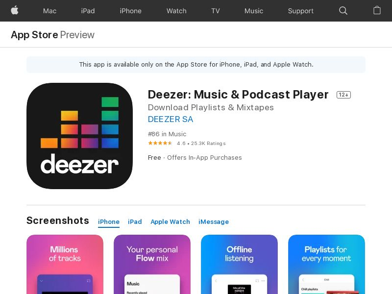 Deezer iOS BR (CPS=purchase)