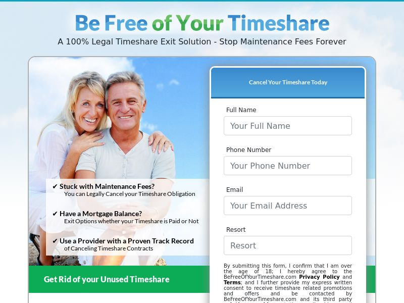 Be Free of Your Timeshare