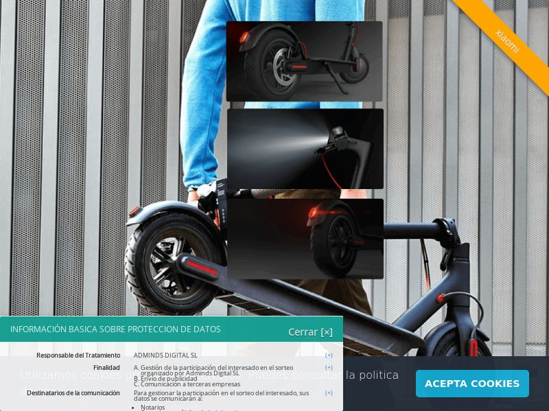 Xiaomi Scooter - ES (ES), [CPL], Lotteries and Contests, Single Opt-In, Email Submit, paypal, survey, gift, gift card, free, amazon