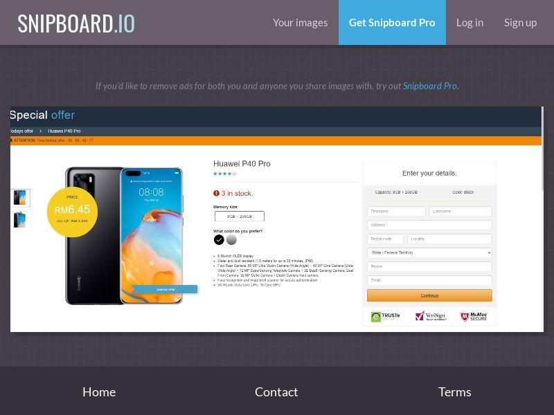 37759 - MY - NobodyKnows - Huawei P40 Pro Amazon LP - CCsubmit