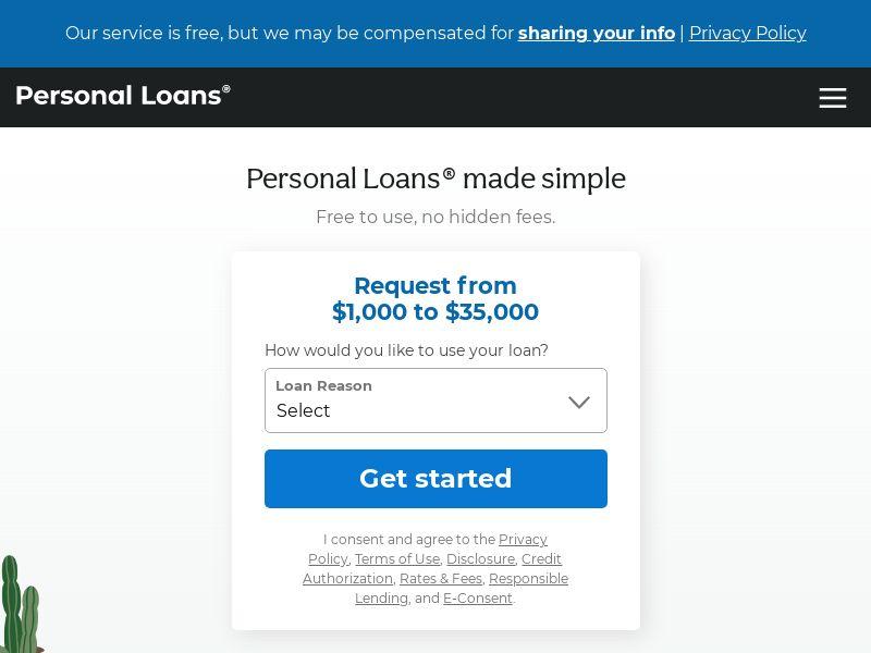 PersonalLoans.com - US - Less Filters
