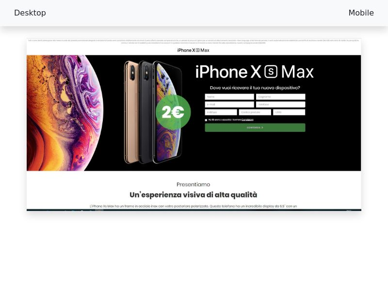 Iphone XS Max v3 - CC-submit [IT]