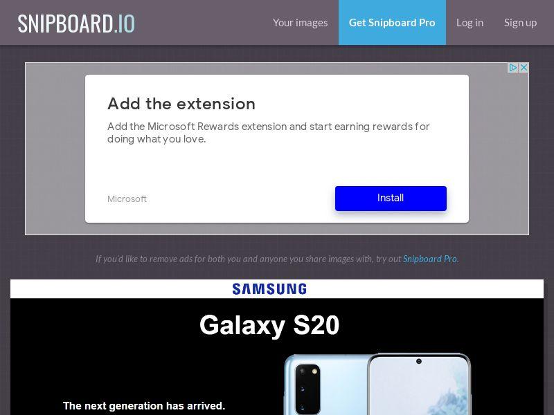 41184 - US - UK - Samsung S20 - (US - UK) - CC submit