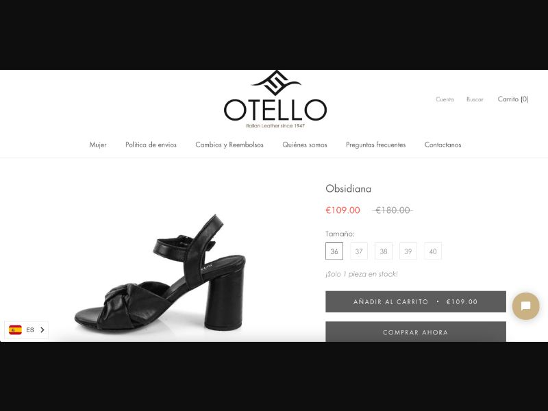 Black Heel Sandal - CC Submit - UK-IT-ES - E-Commerce - Responsive