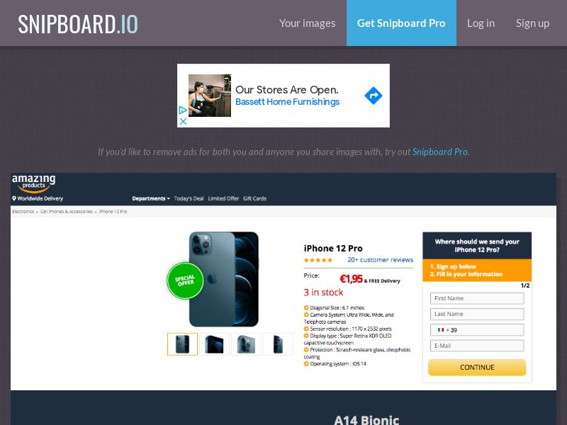 G33K Premium - iPhone 12 Pro Amazon IT - CC Submit