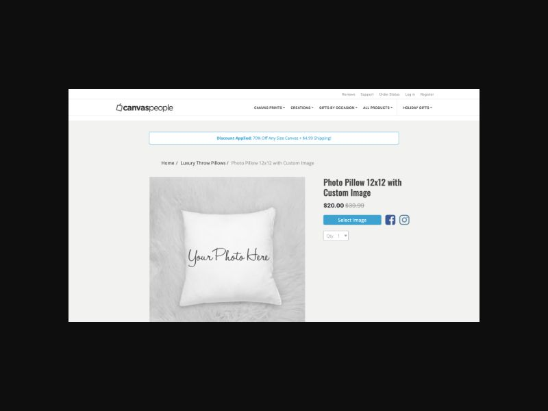 CanvasPeople.com Free Pillow (US) CPS