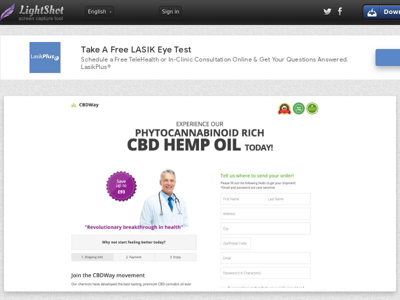 AdCenter Nutra UK (CBD Oil) - CPA, Straight Sale, CC Submit