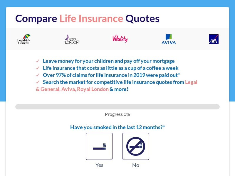Life Insurance - Straight To Form - V2 - UK