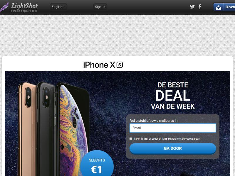 Getup Live iPhone Xs (Sweepstake) (CC Trial) - BEnl