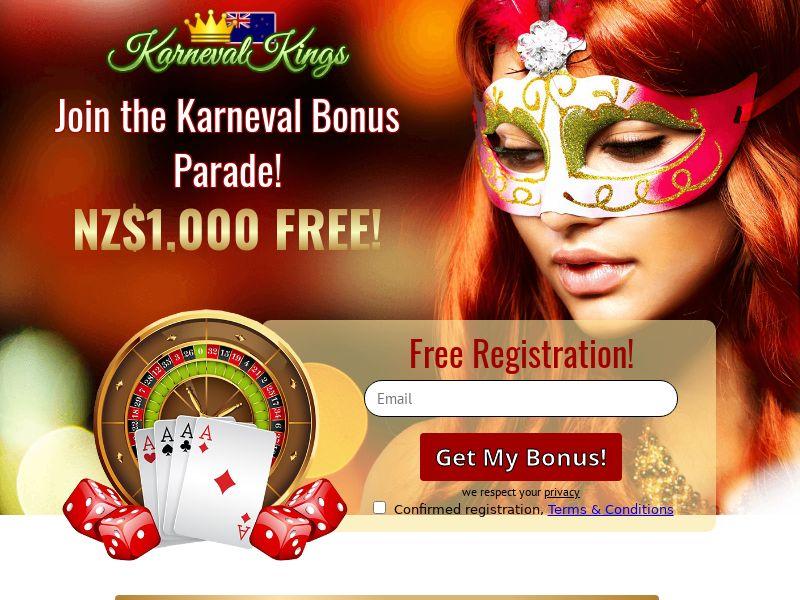 5779) [EMAIL] Karnaval Kings - Free spins - NZ - CPL