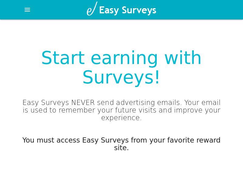 EasySurveys - Survey Router - Short Survey - CPL - Incent [MULTIGEO]