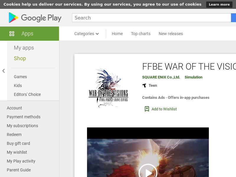 WAR OF THE VISIONS US Android