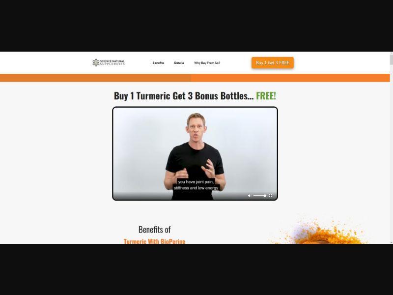 Turmeric With BioPerine - VSL - Health - Trial - NO SEO - [US]