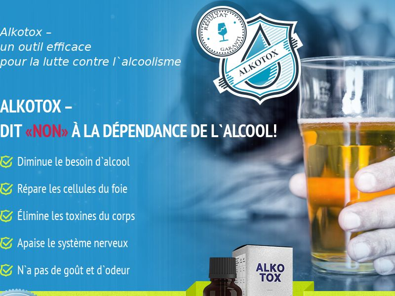 ALKOTOX FR - alcoholism treatment product