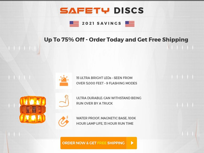 1Tac Roadside Safety Discs (PPS) - Survival/eCommerce - US, WW