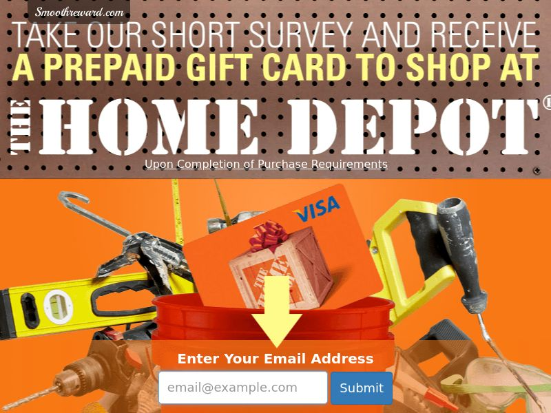 Home Depot Gift Card - Networks - US (Incent) - CPL - DIRECT