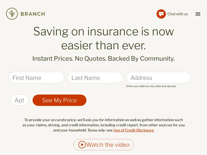 US - Branch Financial - Auto Insurance Quote - CPL