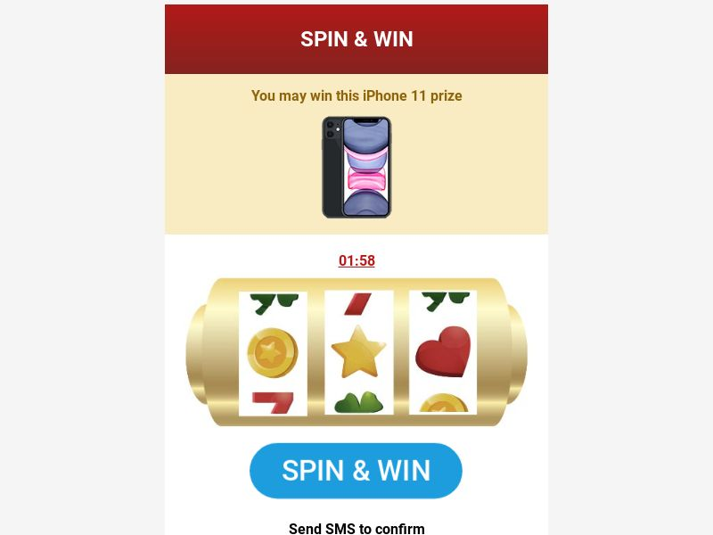 Casino Spin & Win (ALL) (SMS Flow) (Mobile) (Incent)