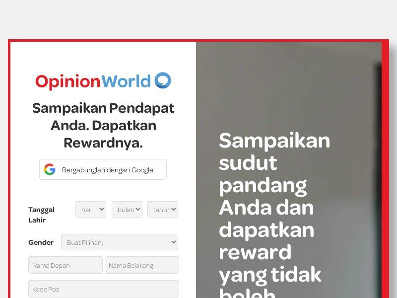OpinionWorld Indonesia SOI+1st Survey   ID