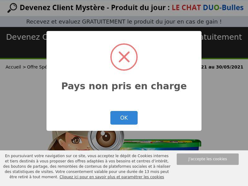 12169) [WEB+WAP] LE CHAT Duo-bulles - FR - CPL