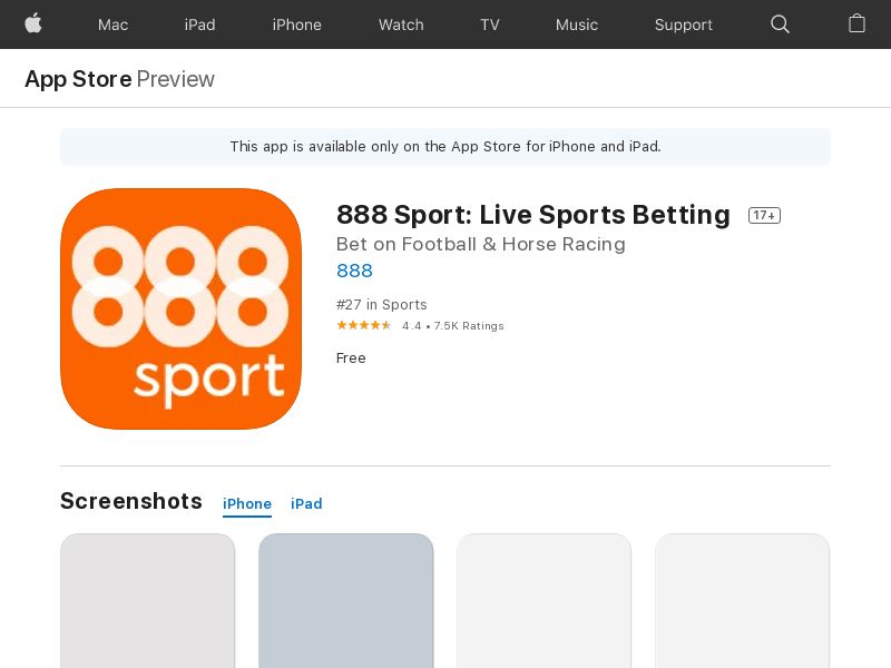 888 Sport:Live Sports Betting_ios_Mobavenue CPA UK [new]