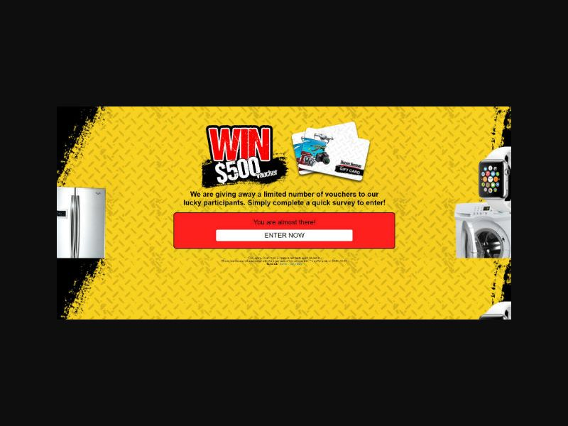 Win a Harvey Norman $500 Giftcard - SG