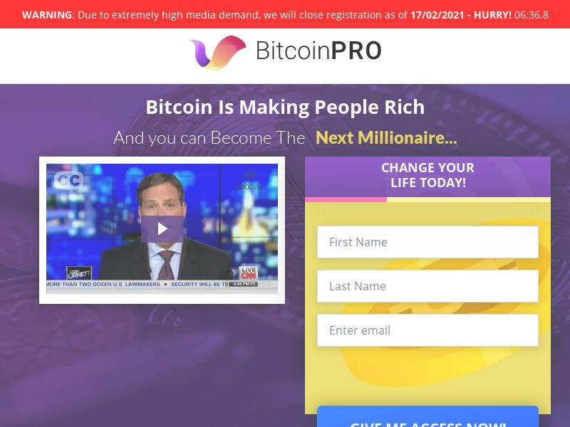 Bitcoin PRO CPA IT, NL, SE, PT, ES, ZA, TH, MY, VT, DE, AT, DK, FI, CH, UK, QA, OM, KW, AE, BH,SA, IN, AR, CL, PE, PR