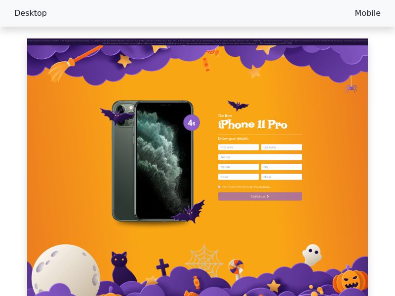 iPhone 11 Pro v3 CPL- cc-Submit Halloween edition [NZ]