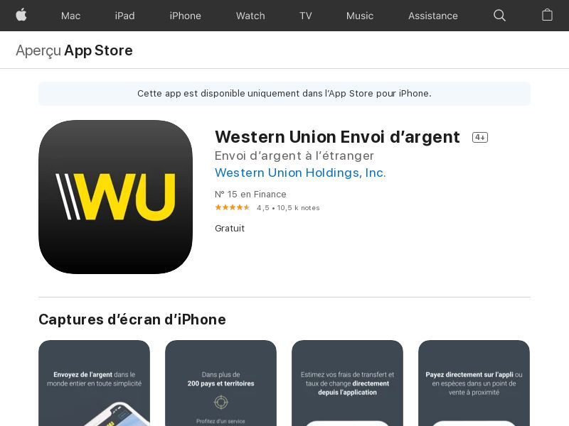 Western Union iOS CPE - UK