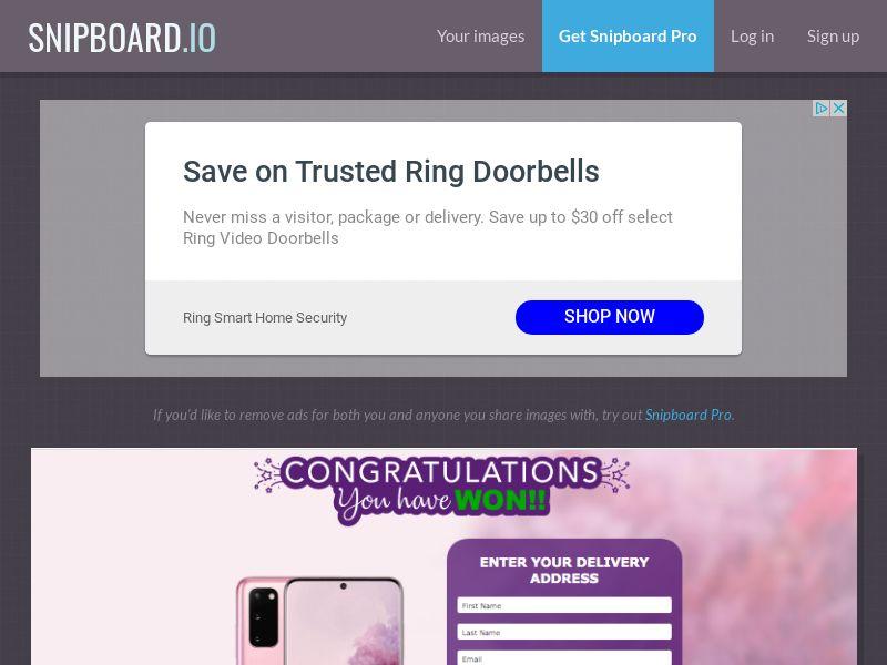 AbsoluteWinner - Samsung Galaxy S20 (Pink) US - CC Submit