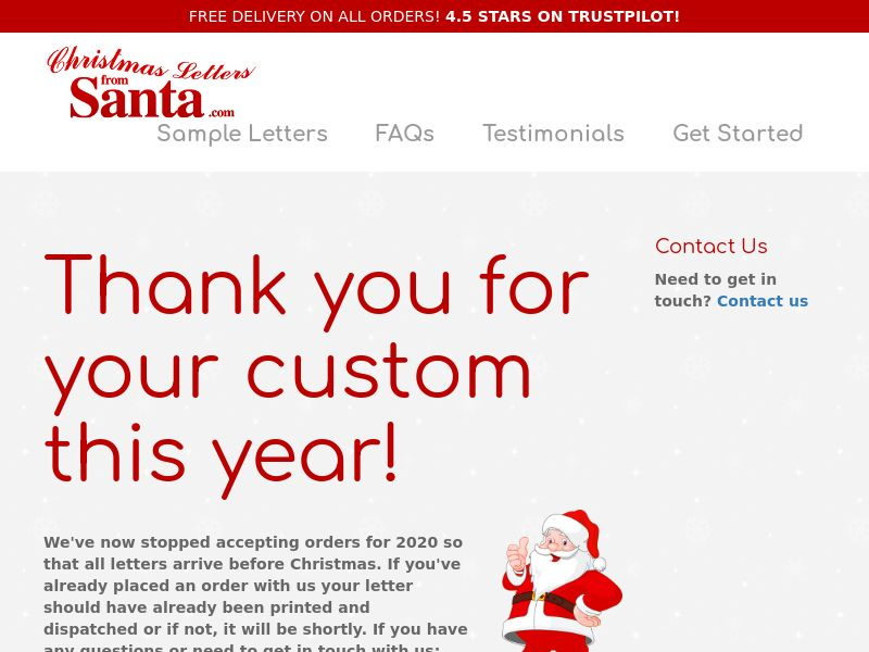 Christmas Letters From Santa [HOLIDAY] [ECOMMERCE] - CPA - South Africa