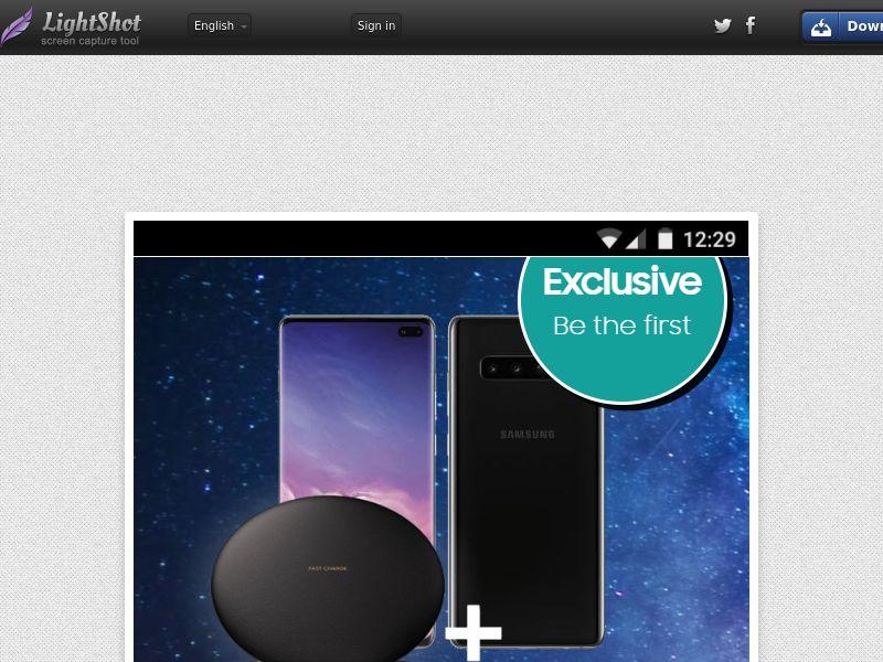 GetRealDeal Samsung Galaxy S10 (Sweepstake) (CC Trial) - Singapore [SG]