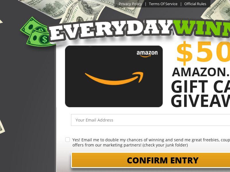 Everyday Winner Amazon $500 eGift Card