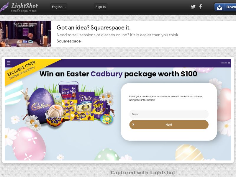 ConsumersConnect - Win Cadbury Easter Package (FR) (CPL) (Personal Approval)