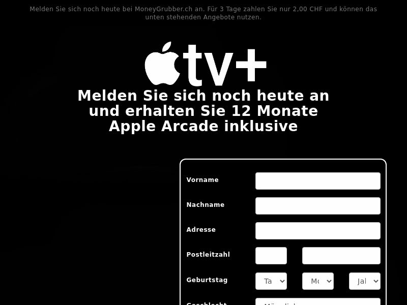 Apple TV+ & Arcade - CH