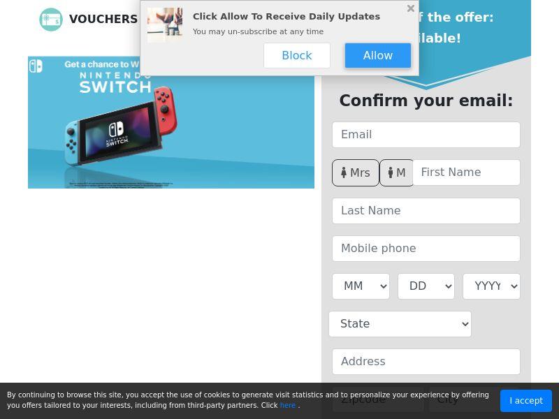 US - Vouchers Avenue - Nintendo Switch