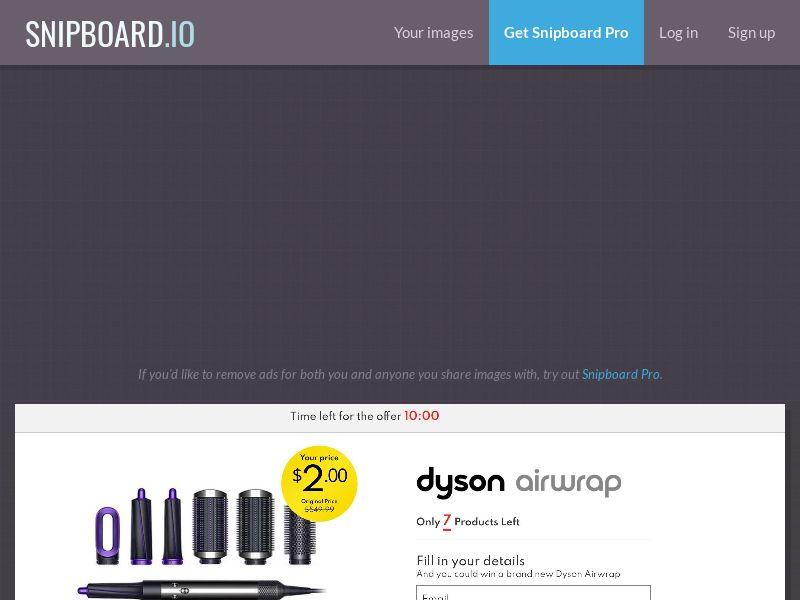 42439 - FR - SmartTest - Claim Your Dyson Airwrap - CC submit