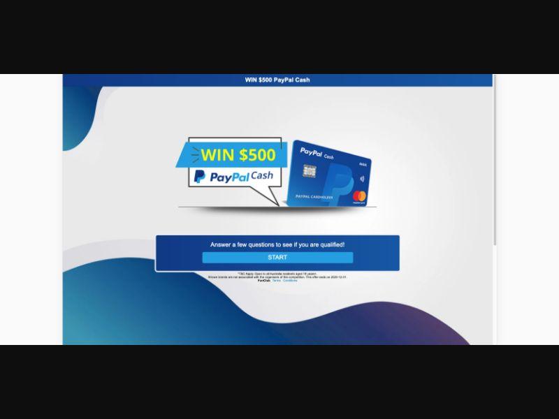 PayPal - CPL SOI - AU - Sweepstakes - Responsive